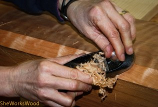 Then I did a final localized clean up with my block plane.