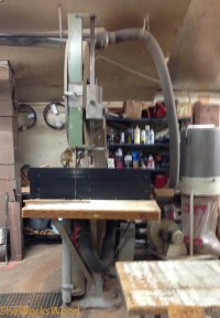 Meat Bandsaw converted to woodworking and cutting veneers.
