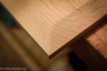 Bevel on the underside of the second top.