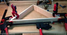 Gluing up the outside frame.