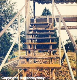 Waterslide stairs - no thanks