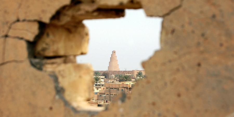 Вид на мечеть Мутаваккиля из разрушенной стены, Самарра, Ирак