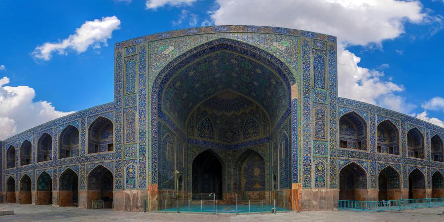 Панорама мечети Имама, Исфахан, Иран