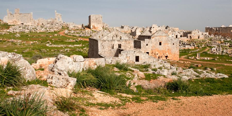 Руины древнего сирийского города Серджилла