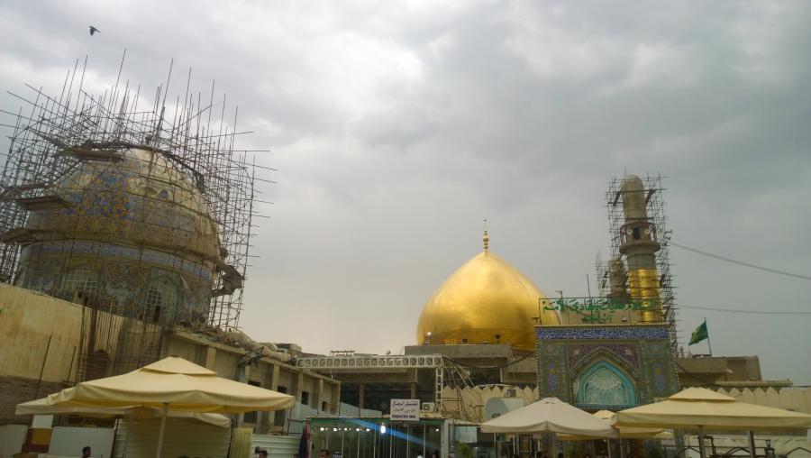 Восстанавливаемый после разрушения ваххабитами комплекс Аскарейн, Самарра, Ирак