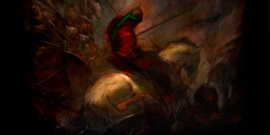 Картина, изображающая сцену убийства Абу аль-Фадля Аббаса