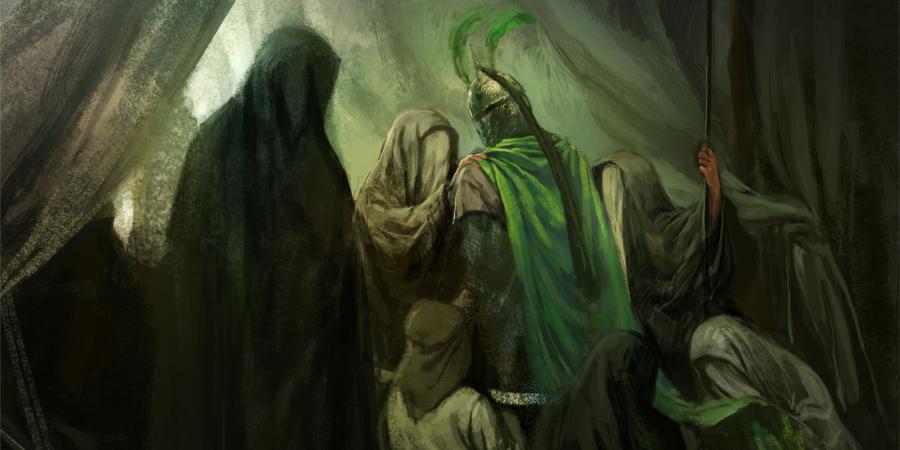 Картина, изображающая Али Акбара