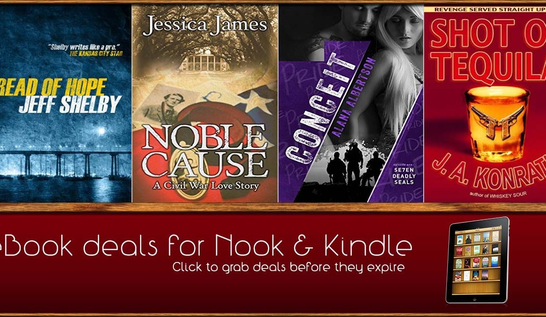 8/9 Morning Block of eBook Deals on Kindle and Nook