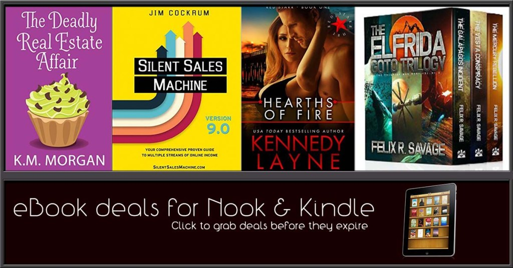 10/25 Afternoon Block of Free & Bargain eBook Deals