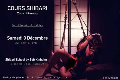 atelier shibari paris : Cours tous niveaux : Shibari School by Seb Kinbaku