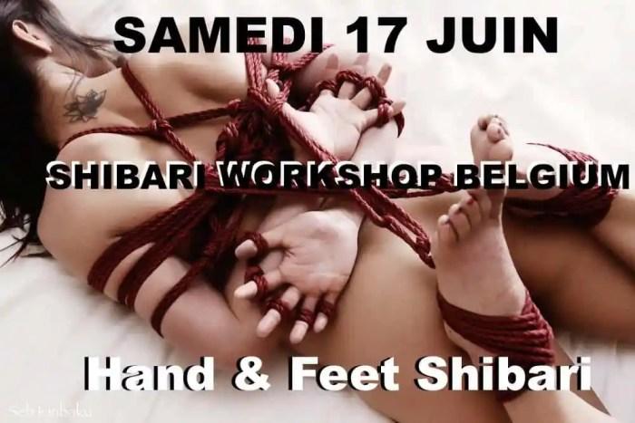 cours shibari belgique : Shibari pieds et mains
