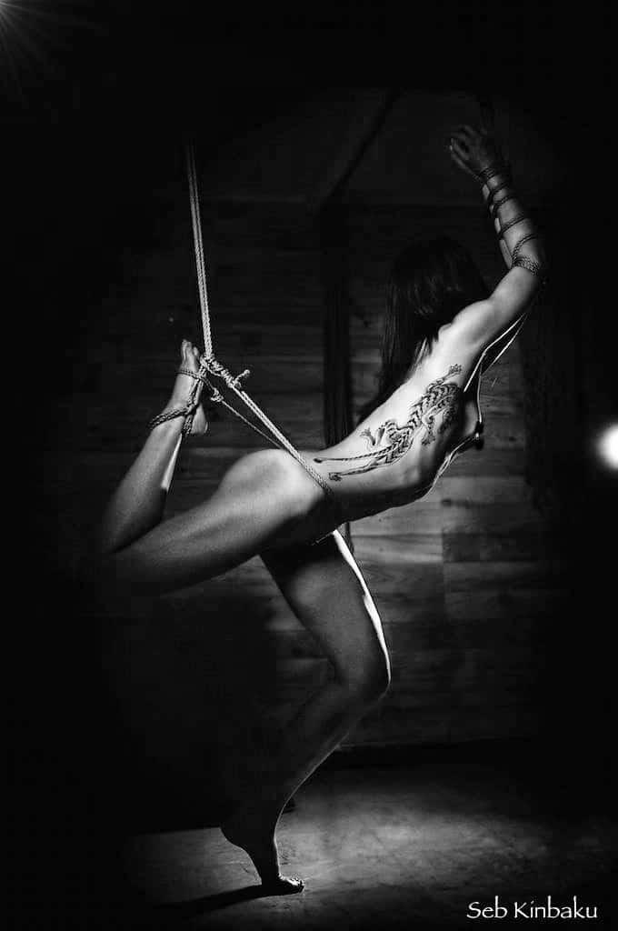 Photo bondage shibari artistique par Seb Kinbaku