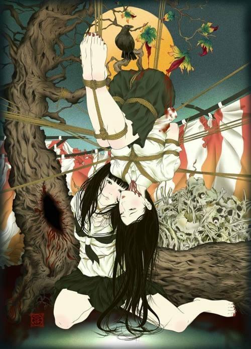 Illustration Shibari Kinbaku