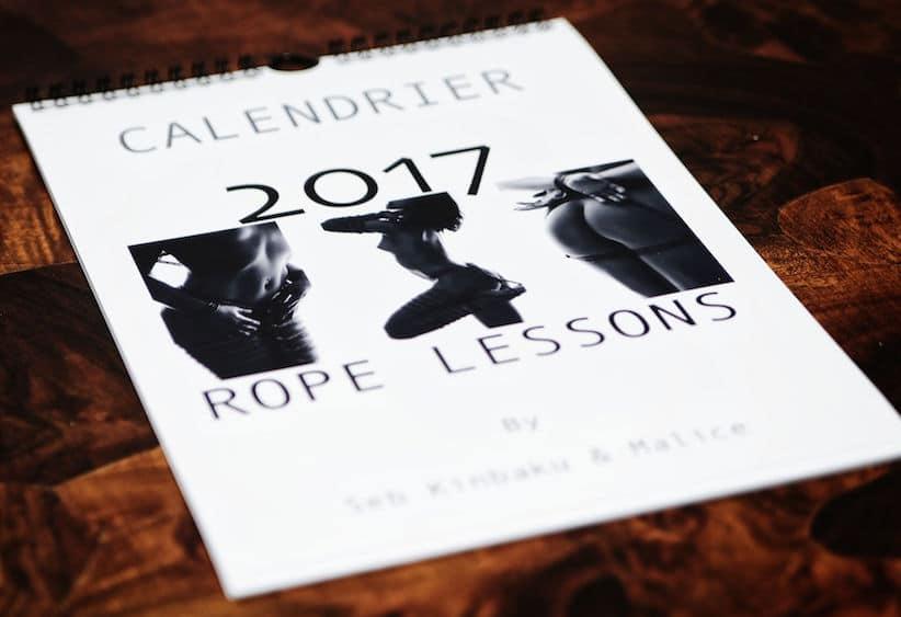 Calendrier 2017 shibari kinbaku bondage