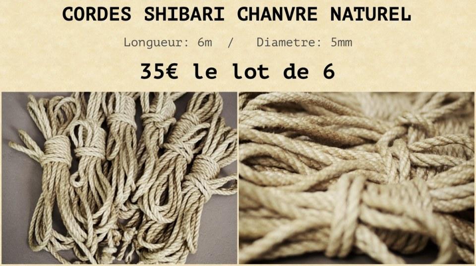 corde shibari chanvre a vendre