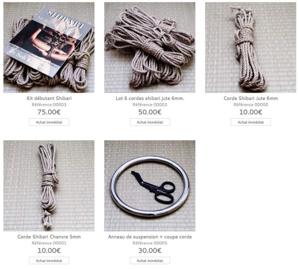 Boutique shibari : Seb Kinbaku 2