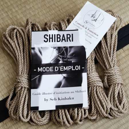 Kit debutant shibari : Cordes shibari jute et guide shibari