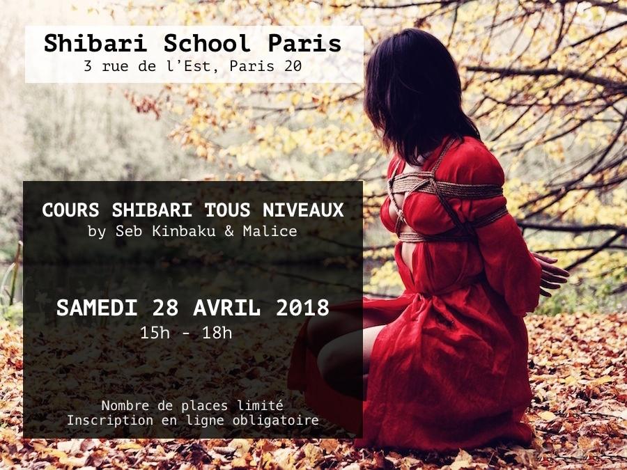 Cours Shibari Avril 2018 / Shibari School Paris by Seb Kinbaku