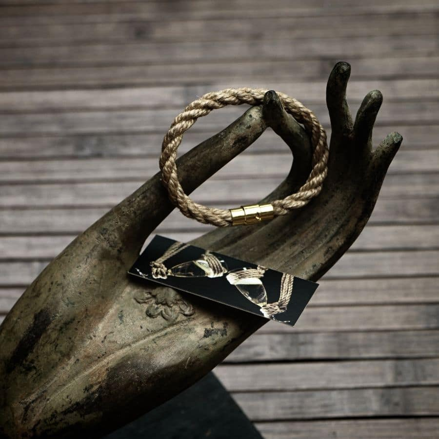 bracelet shibari dorée : BDSM bracelet
