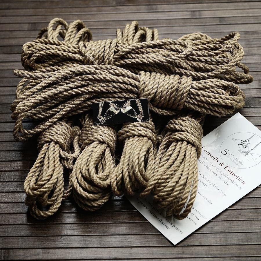 cordes shibari jute - boutique shibari - seb kinbaku