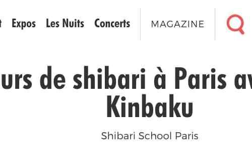 Cours du shibari de seb kinbaku