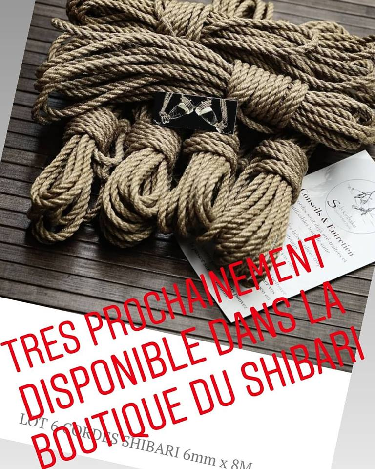 cordes de shibari en jute naturelle 6mm