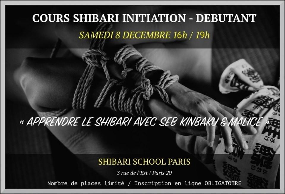 Cours de bondage shibari avec Seb Kinbaku Paris