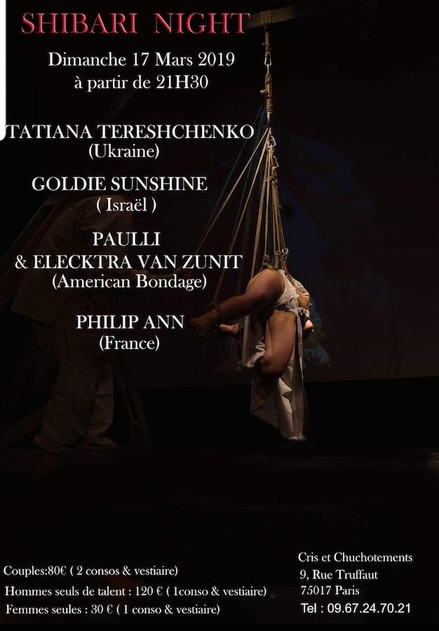 performance shibari à Paris