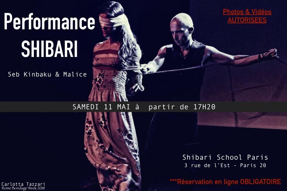 Performance de shibari avec Seb Kinbaku et Malice