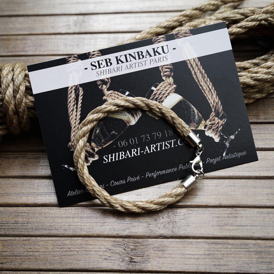 Bracelet shibari femme