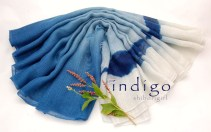 indigo on silk