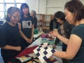 Youngmin Lee shows her Korean Bojagi