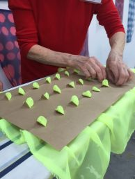 Preparing the fabric for dyeing and setting; Photo Coutesy:Namita Wiggers