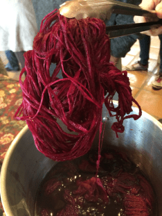Cochineal dyeing; Photo Credit: Anu Ravi