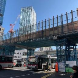 渋谷駅西口駅前デッキ建設現場