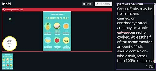 canva present and record feature