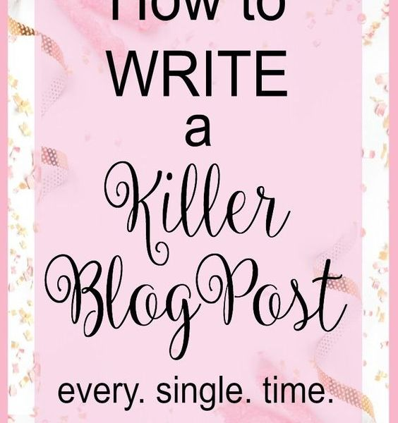HOW TO WRITE A KILLER BLOG POST EVERY TIME