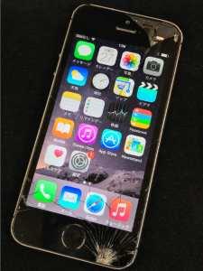 買取りした画面割れのiPhone5s