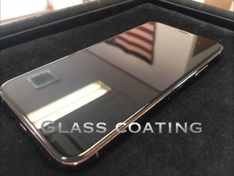 iPhoneXSをガラスコーティング