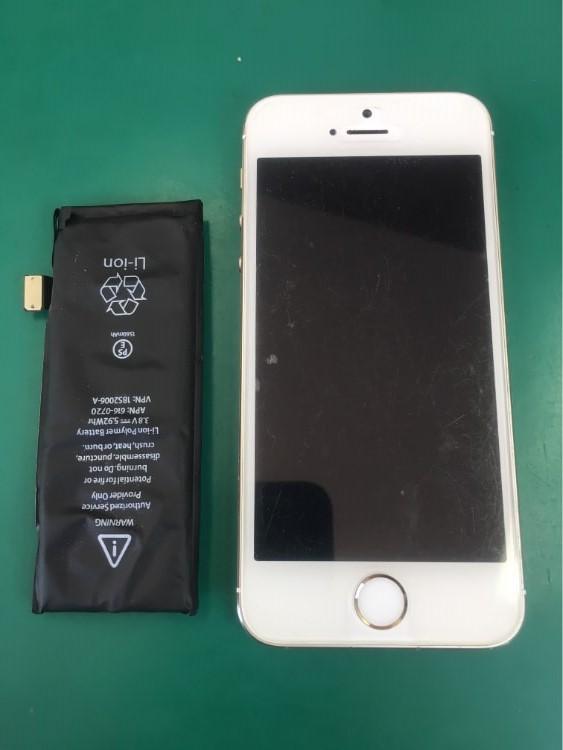 バッテリー交換後のiPhone