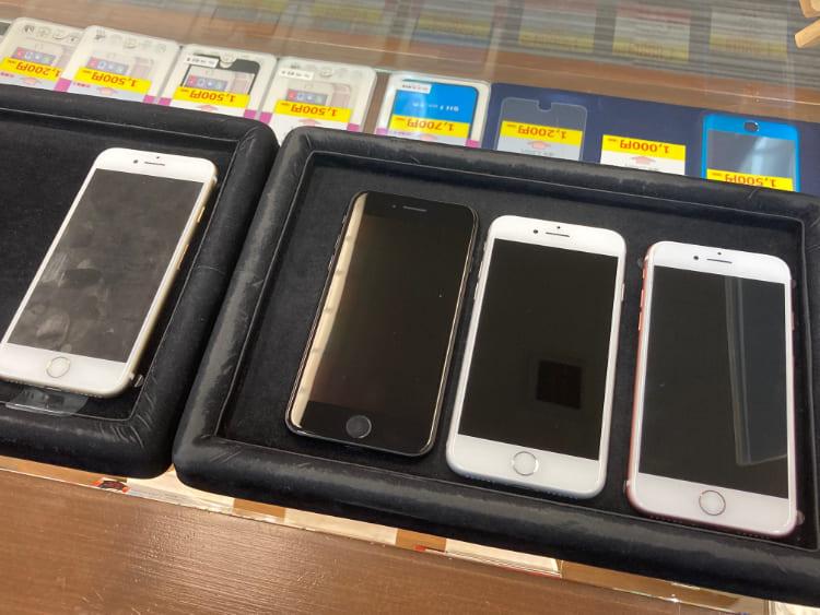 iPhone7まとめてガラスコーティング