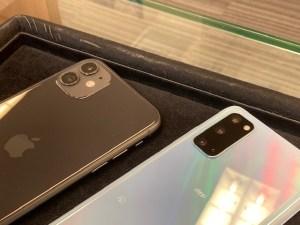 ギャラクシーS20とiPhone11をガラスコーティング