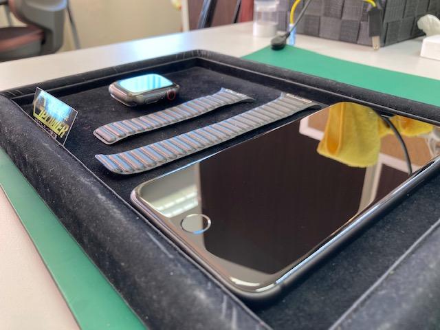 アップルウォッチとiPhoneをガラスコーティング