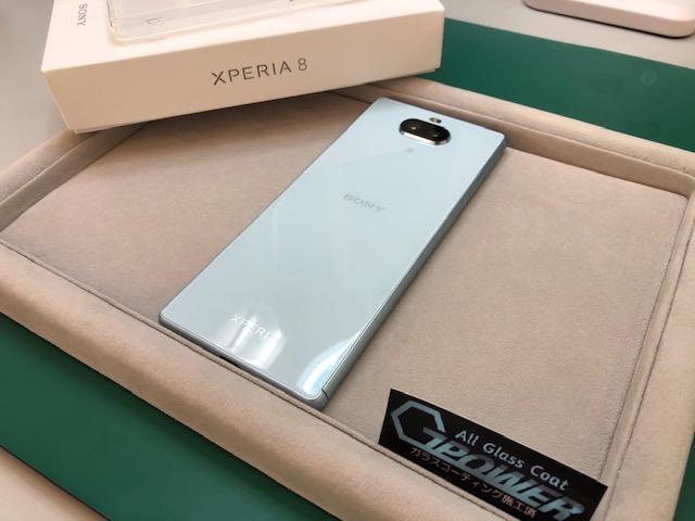 Xperia8をガラスコーティング