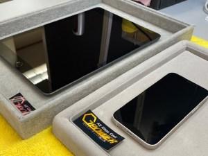 iPhoneとiPadをガラスコーティング