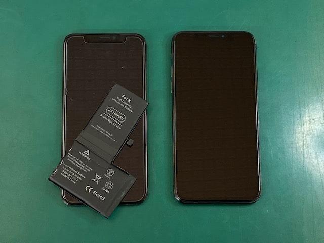 iPhoneX画面修理&バッテリー交換後