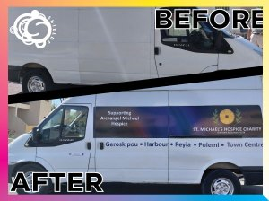 Hospice Van designed and stickered by Shields