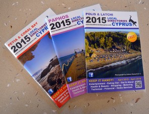 Directories for Paphos, Peyia and Coral Bay and Polis and Latchi, printed by Shields