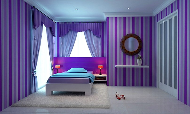 5 Awesome Ideas for Purple Bedrooms | Office Space, Hotels ... on Teenager Simple Small Bedroom Design  id=40050