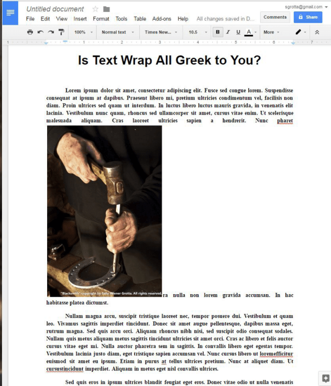 Newco Shift | Wrap Text Around a Photo in Google Docs
